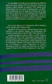 Non A Tombalbaye - 4ème de couverture - Format classique