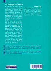 Les Pedagogies Differenciees Origine, Actualite, Perspectives - 4ème de couverture - Format classique