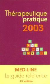 Thérapeutique pratique (édition 2003) - Intérieur - Format classique