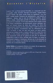 L Homme Qui Poignarda Louis Xv Robert-Francois Damien 1715-1757 - 4ème de couverture - Format classique
