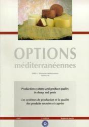 Les systemes de production et la qualitedes produits en ovins et caprins bilingue anglais francais o - Couverture - Format classique