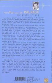 Petit Tour Autour De Malraux - 4ème de couverture - Format classique