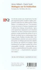 Dialogue Sur La Traduction - 4ème de couverture - Format classique