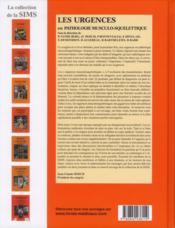 Les urgences en pathologie musculo-squelettique - 4ème de couverture - Format classique