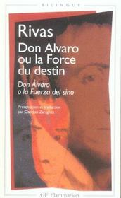 Vente livre :  Don Alvaro Ou La Force Du Destin  - Rivas - Angel De Rivas