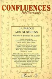 La Parole Aux Algeriens, Violence Et Politique En Algerie - Couverture - Format classique