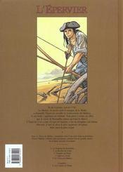 L'épervier t.5 ; le trésor du Mahury - 4ème de couverture - Format classique