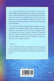 La Therapie Par La Voix - 4ème de couverture - Format classique