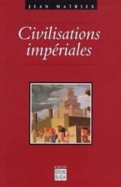 Coffret Civilisations Imperiales 1 Et 2 - Couverture - Format classique