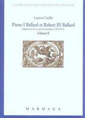 Pierre I Ballard Et Robert Iii Ballard (1599-1673) Vol 2 - Intérieur - Format classique