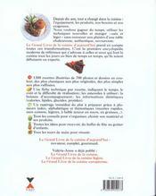 Le Grand Livre De La Cuisine D'Aujourd'Hui - 4ème de couverture - Format classique