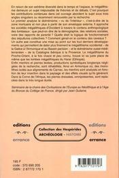 Megalithismes: De L'Atlantique A L'Ethiopie Seminaire Du College De France - 4ème de couverture - Format classique