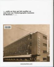 Bauhaus ; 1919-1933 - 4ème de couverture - Format classique