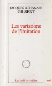 Variations De L'Imitation Une Poetique De L'Apparaitre - Couverture - Format classique