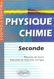 Controle Continu ; Physique-Chimie ; 2nde - Intérieur - Format classique