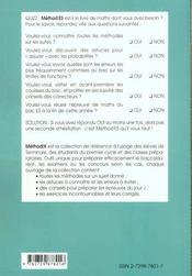 Method'ES ; mathématiques ; terminale ES ; 100 méthodes, 80 exercices corrigés - 4ème de couverture - Format classique