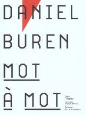 Daniel Buren- Mot A Mot - Intérieur - Format classique