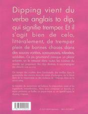 Dipping ; le repas-apero sympa - 4ème de couverture - Format classique