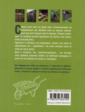 Compost ; un fertilisant naturel pour le jardin - 4ème de couverture - Format classique