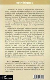 L'Oeuvre D'Art A L'Epoque De W Benjamin ; Histoire D'Aura - 4ème de couverture - Format classique