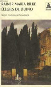 Élégies de Duino - Couverture - Format classique