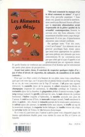 Aliments Du Desir - 4ème de couverture - Format classique