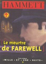Le meutre de Farewell - Intérieur - Format classique