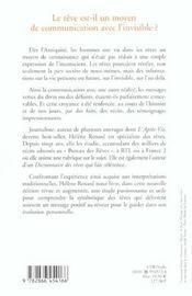 Le Reve De L'Au-Dela - 4ème de couverture - Format classique