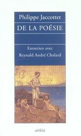 De La Poesie - Entretiens Avec Reynald Andre Chalard - Intérieur - Format classique