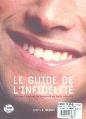Le Guide De L'Infidelite . Comment Tromper Son. Conjoint En Toute Impunite - 4ème de couverture - Format classique