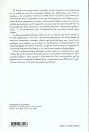 Pharmacologie Generale Et Pratique 3e Edition - 4ème de couverture - Format classique