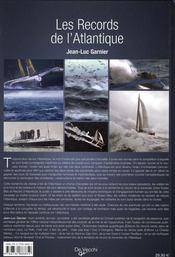 Les records de l'Atlantique - 4ème de couverture - Format classique