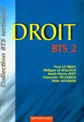 Droit bts 2eme annee-edition 1999 - Couverture - Format classique