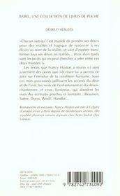 Desirs et realites - 4ème de couverture - Format classique