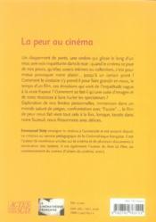 La Peur Au Cinema - 4ème de couverture - Format classique