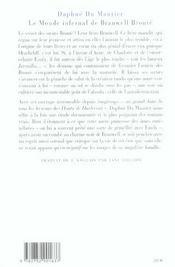 Le monde infernal de Branwell Brontë - 4ème de couverture - Format classique