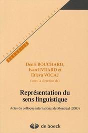 Representation Du Sens Linguistique - Intérieur - Format classique