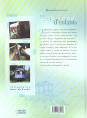 Cabanes d'enfants - 4ème de couverture - Format classique