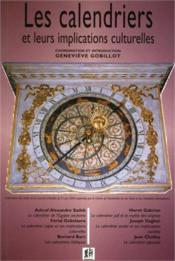 Les calendriers et leurs implications culturelles - Couverture - Format classique