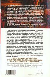 Les grandes sagas historiques ; tantzor-berlin - 4ème de couverture - Format classique