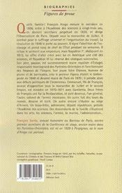 Les Arago Francois Et Les Autres - 4ème de couverture - Format classique