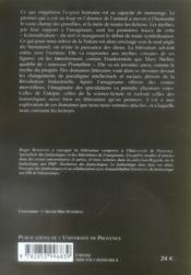 Fantastique et mythologies modernes - 4ème de couverture - Format classique