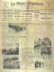 Petit Parisien Edition De Paris (Le) du 31/05/1941 - Couverture - Format classique