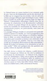 Essais Sur L'Interpretation Et La Culture Talmudique - 4ème de couverture - Format classique