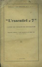 L'Essentiel N°7 Cahier De Croquis De Geographie. - Couverture - Format classique