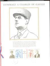 Bande Philatelique Commemorative : Charles De Gaulle - Couverture - Format classique