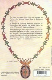 Bataille De Grenoble.Histoire Des Groupes Francs Grenoblois - 4ème de couverture - Format classique