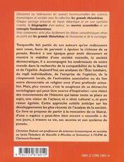 Alexis De Tocqueville Vie Oeuvres Concepts - 4ème de couverture - Format classique