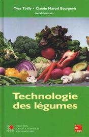 Technologie des legumes (coll. staa) - Intérieur - Format classique