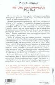 Histoire des commandos 1939-1943 t.1 - 4ème de couverture - Format classique